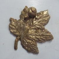 Ahornblad med snegl